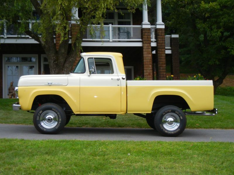 1959 F100 4x4 Short Bed Pickup With Images Ford Trucks