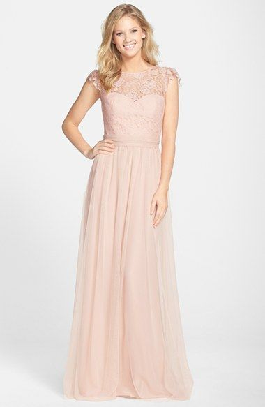 Blush Lace Cap Sleeve Bridesmaid Dresses From Am At Nordstrom Dress For The Wedding
