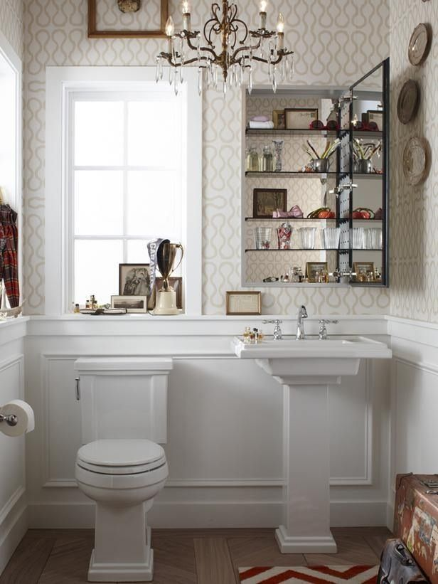 1 2 Bath Seriously Considering Wallpaper Small Bathroom