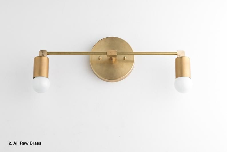 Photo of Vanity Light – Bathroom Light – Vanity Light – Brass Black Vanity – Mid Century Modern – Contemporary Lighting – Model # 8412