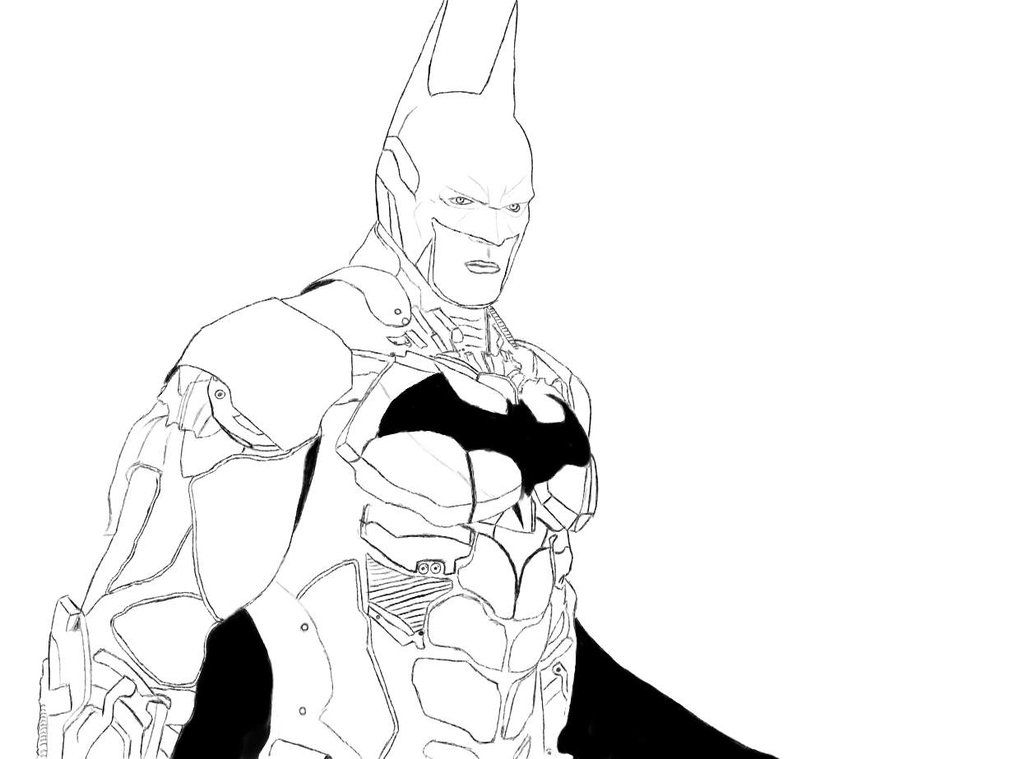 batman arkham knight batman sketch by popcultureart