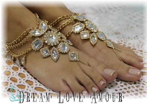 barefootsandalsgypsysolegoldfootjewelryfootlessbeachwedding