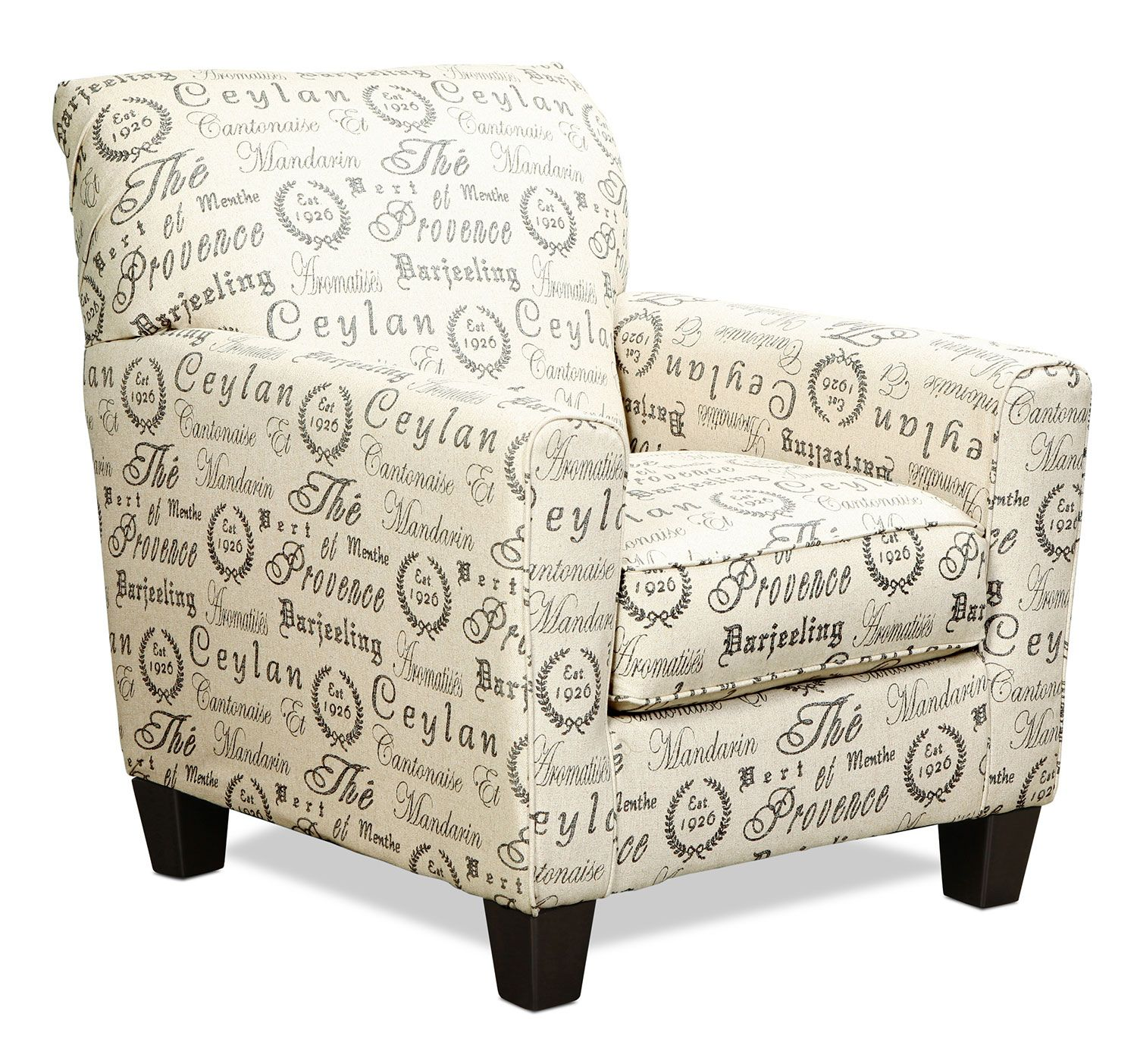The Serena Accent Chair Boasts A Casual Design Distinguished By
