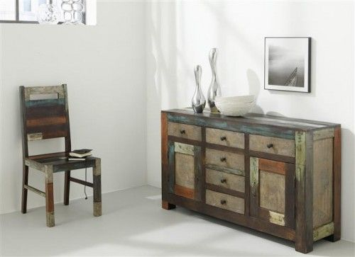 shabby chic und bunte farben was will man mehr das goa sideboard aus edlem mangoholz vereint. Black Bedroom Furniture Sets. Home Design Ideas
