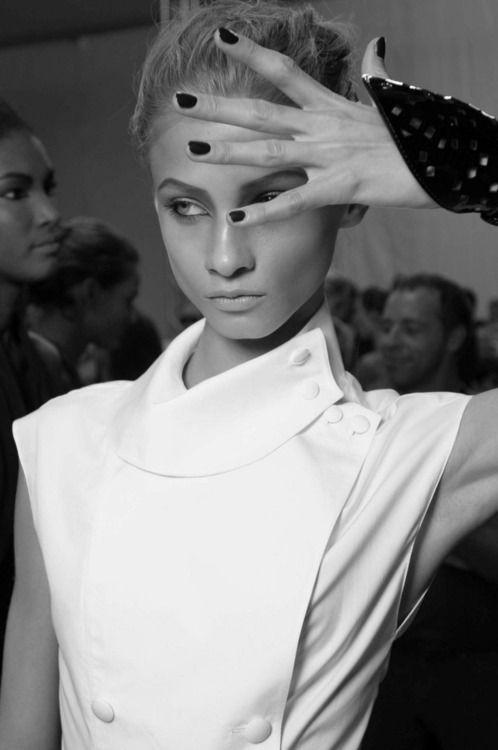 Fashion, model, black and white, famous, beautiful, beauty, makeup