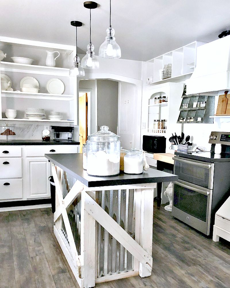 How to create a farmhouse working kitchen on a budget rustic