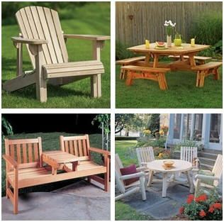 build your own outdoor furniture had diy woodwork plans hardware and wood. Black Bedroom Furniture Sets. Home Design Ideas