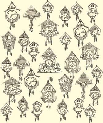 Cuckoo Dibujos Reloj Cucu Reloj Y Miniaturas