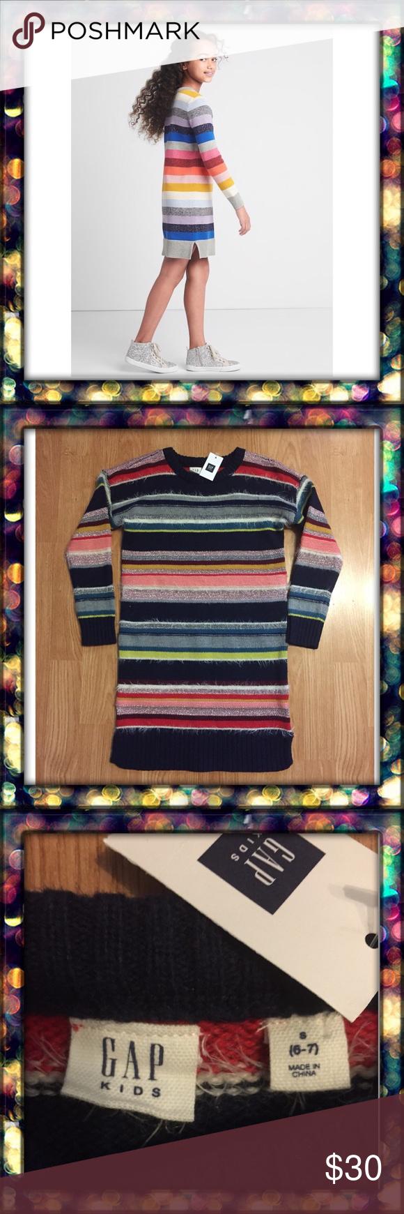 Gap kids new gap girls knit dress nwt my posh picks pinterest