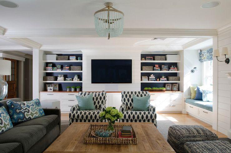 Best Modern Coastal Room With Built Ins Love The Colour Scheme 400 x 300