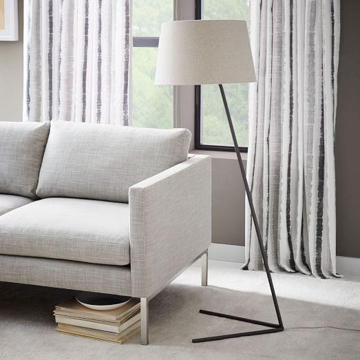 Petite Shade Floor Lamp Floor Lamps Living Room Bronze Floor