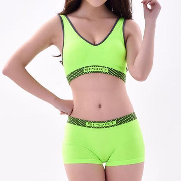 Seamless Yoga Gym Sports Bra Tank Top Removable Light Bra Pad Straps Crop Yellow