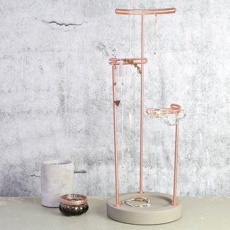 Umbra Tesora Copper Jewellery Stand at lisaangelcouk Random