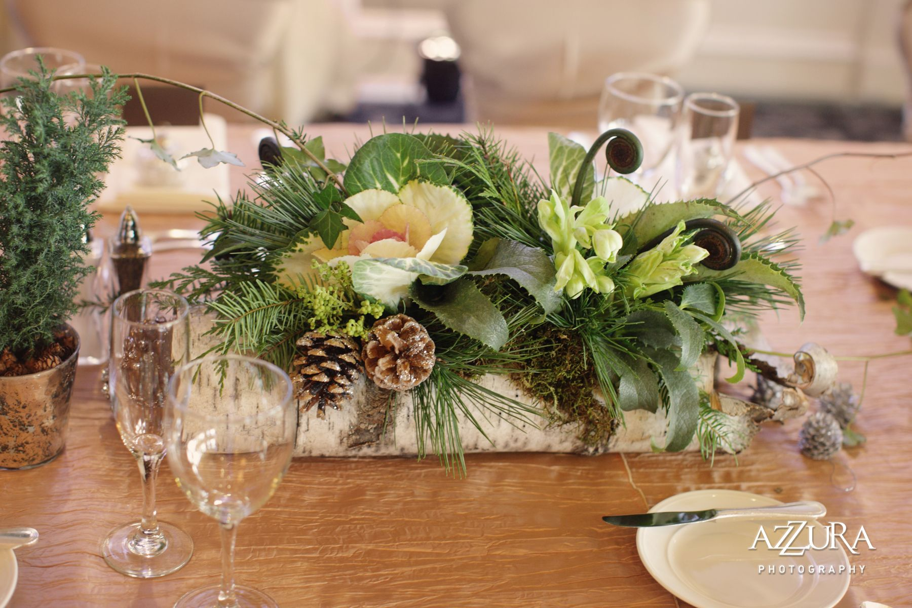 Woodland christmas table centers google search woodland