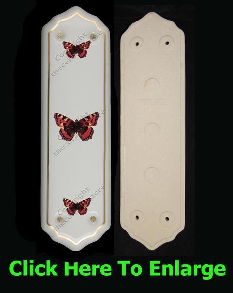Orange Butterfly - Porcelain Finger Plate (Each) & Orange Butterfly - Porcelain Finger Plate (Each)   Butterfly + Bird ...