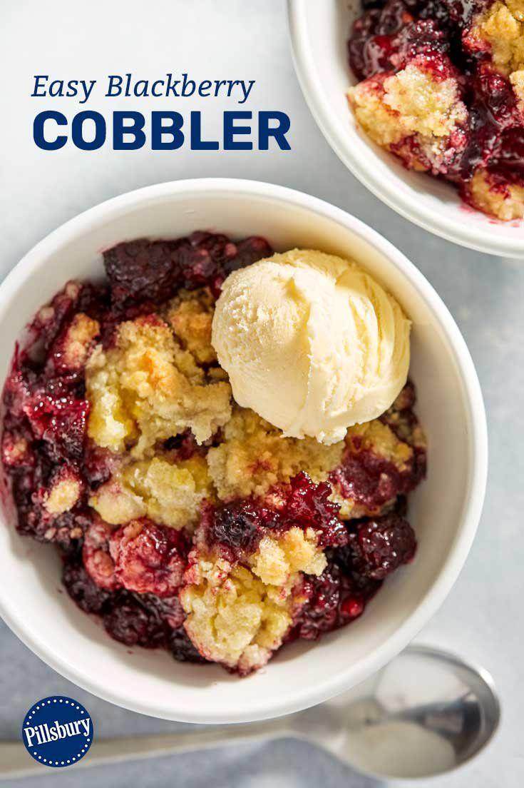 Easy blackberry cobbler recipe in 2020 easy blackberry