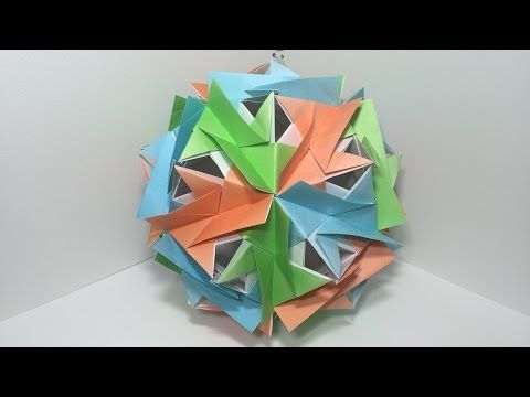Origami Deko kusudama kyamerasuke a 30 pieces modular origami 45