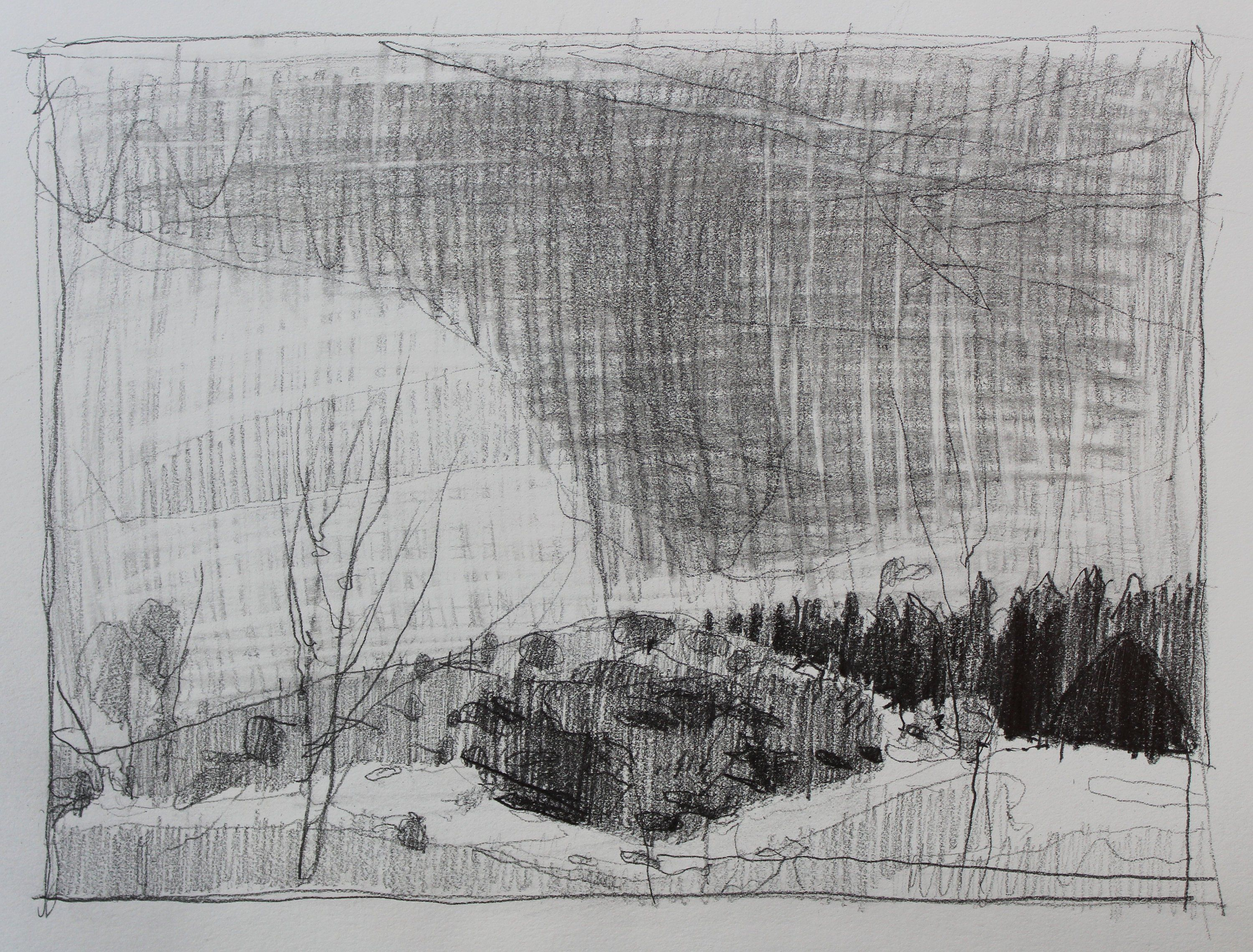 Original Spring Plein Air Landscape Pencil Drawing 11 X 15 Inches Free Shipping Stooshinoff Wendy S Plein Air Landscape Landscape Pencil Drawings Plein Air