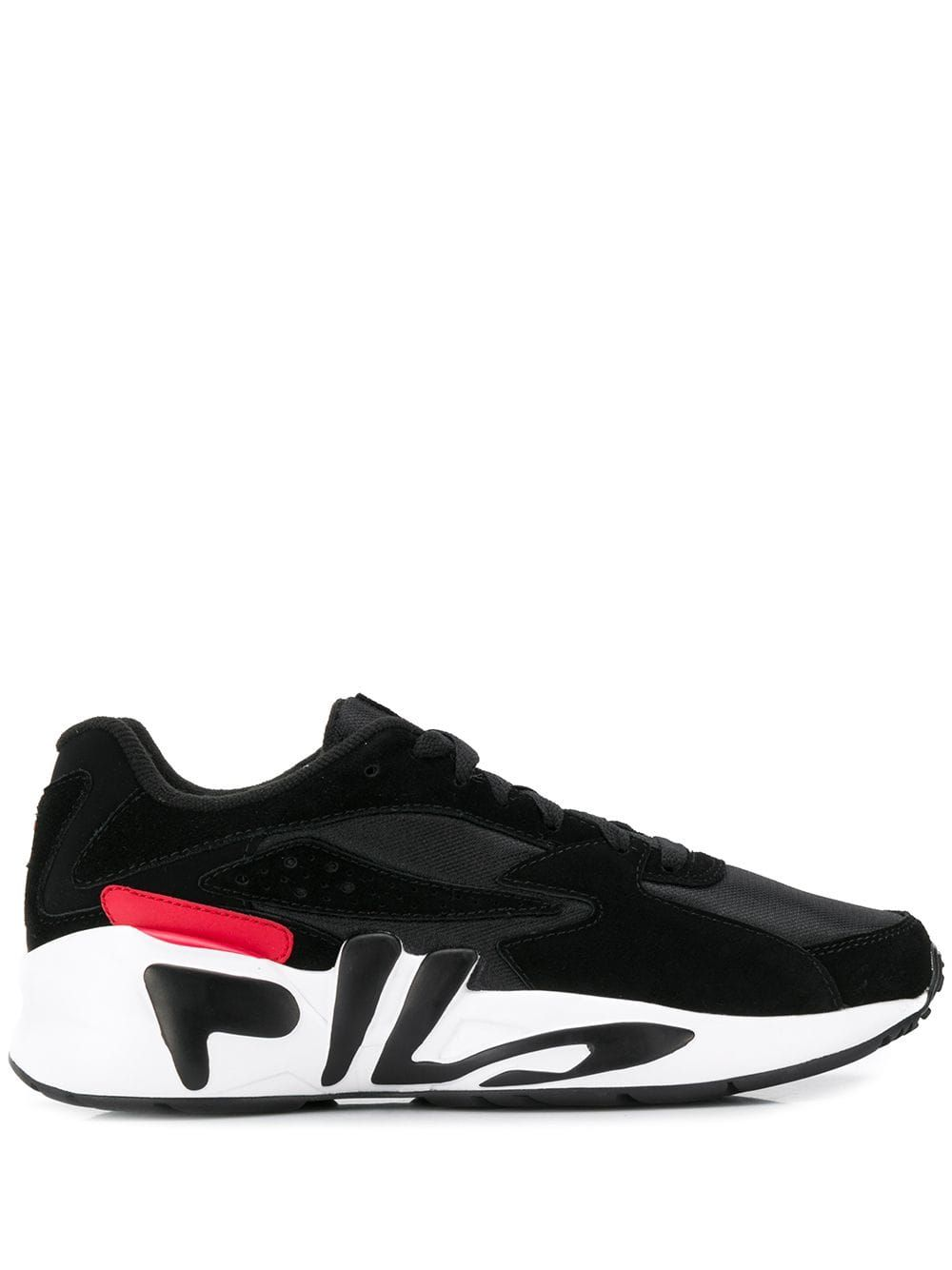 3ce28b2ccef6 FILA FILA LOGO SOLE SNEAKERS - BLACK.  fila  shoes. Find this Pin and ...