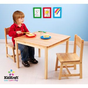 KidKraft - Aspen Table and Chair Set, Natural | gifts | Pinterest ...