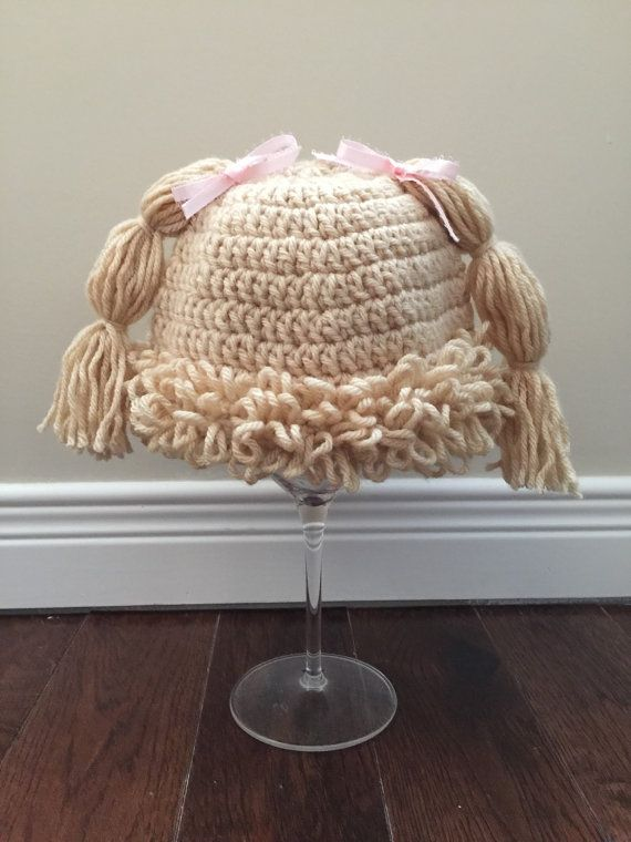 Cabbage Patch Doll Crochet Hat Baby Wig Hat Baby By Kaileighkrafts