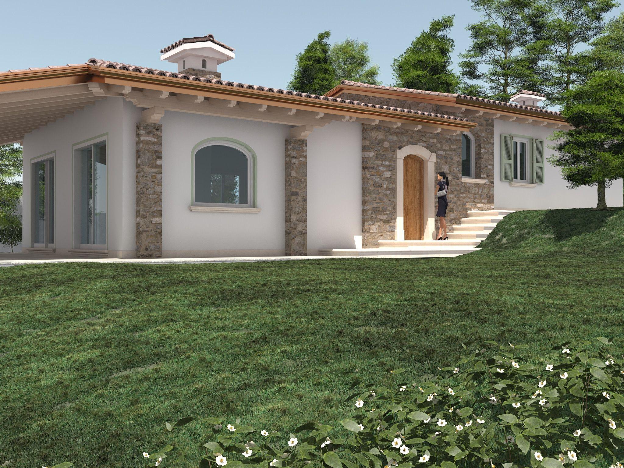 Villa como con villette moderne su un piano e 02 2 33 con for Case bellissime esterni