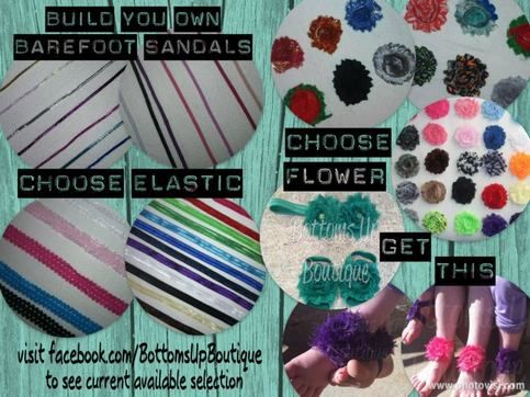 Build Your Own Barefoot Sandals and Headband set for only $10.00!