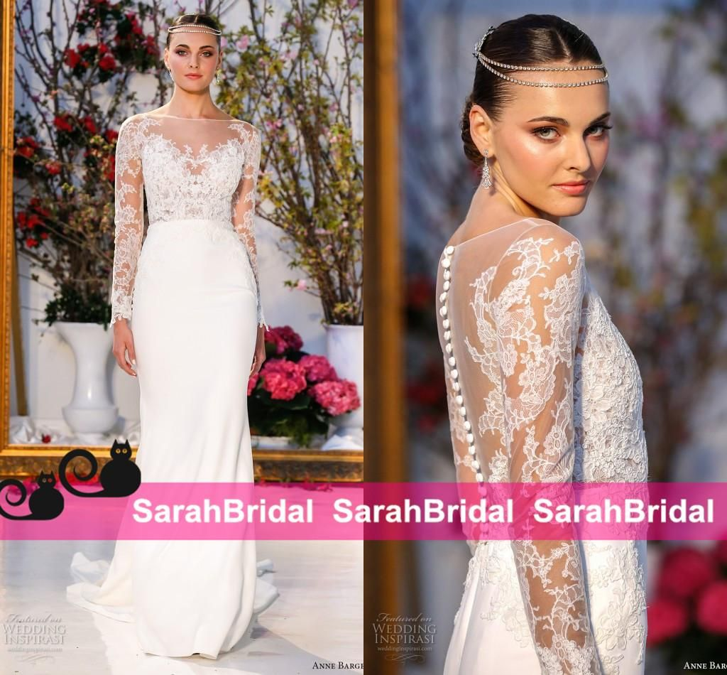 Anne Barge 2017 Spring Style New Arrival Wedding Dresses Full Sleeve ...
