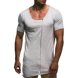 LEIF NELSON Herren oversize T Shirt Rundhals Basic Shirt