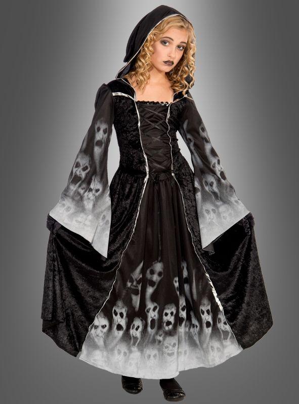 Mädchenkostüm vergessene Seelen Halloweenkleid für Girl ...