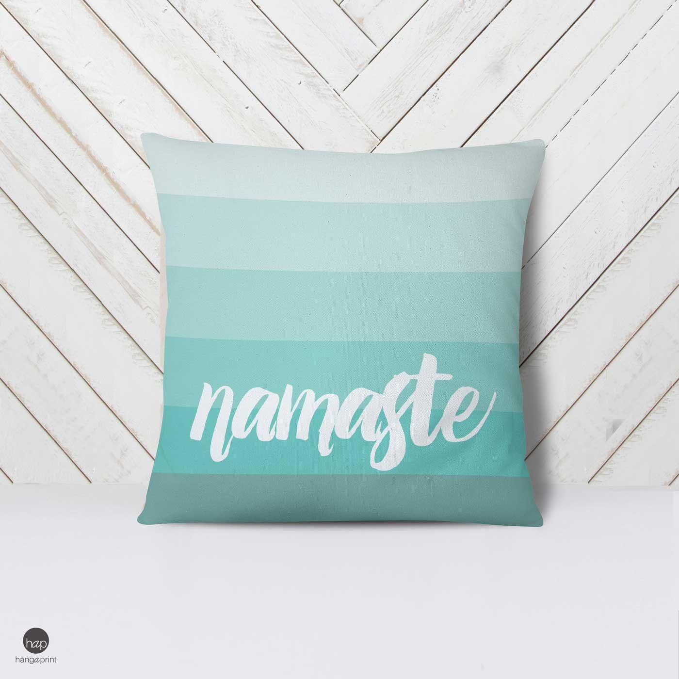 Meditation pillow cover namaste pillow meditation pillow yoga