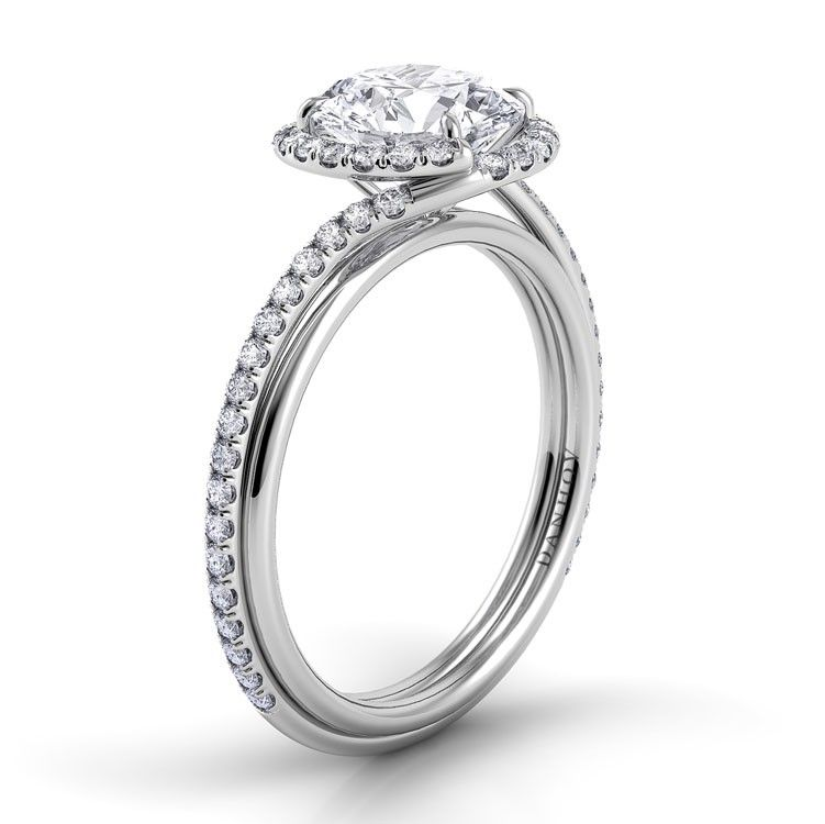 Danhov Abbraccio Swirl Engagement Ring. Made in the USA. Style AE152. www.danhov.com