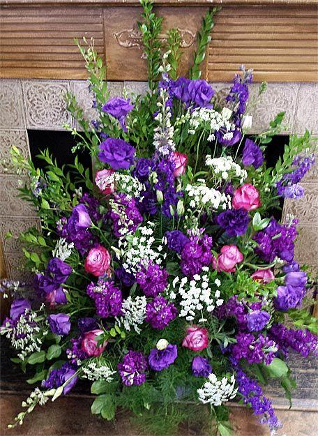 Purple Flowers For Casket Google Search