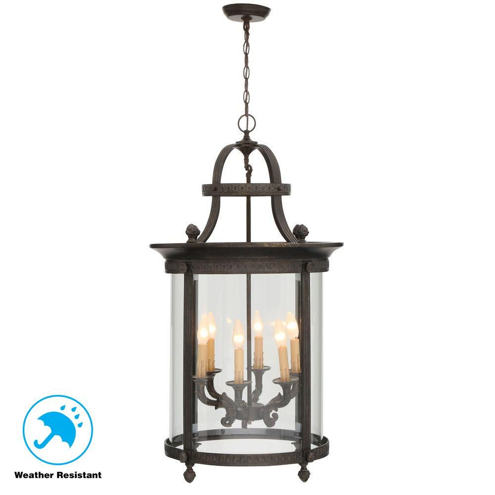 World imports chatham collection 6 light french bronze outdoor
