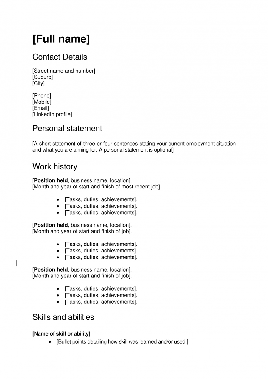 Work Focused Cv Template  Templates    Cover Letter