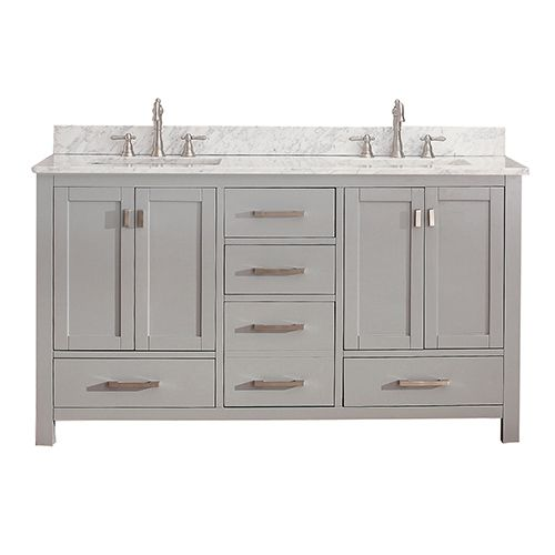 avanity modero chilled gray 60-inch double vanity only | double