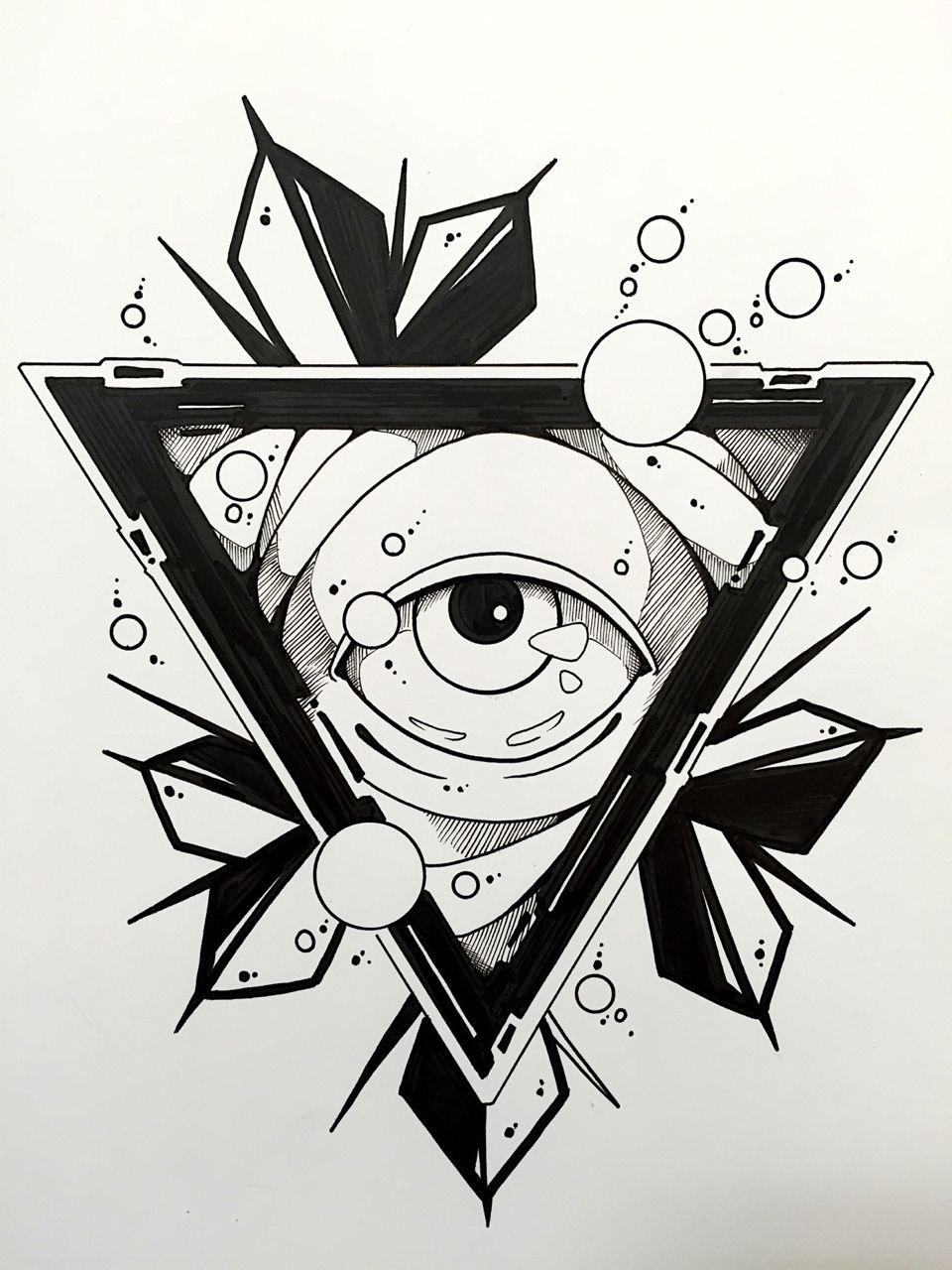 Triangle eye Kresby, Kreslení, Malování