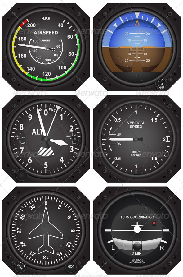 Aircraft Instruments - Man-made Objects Objects | instruments