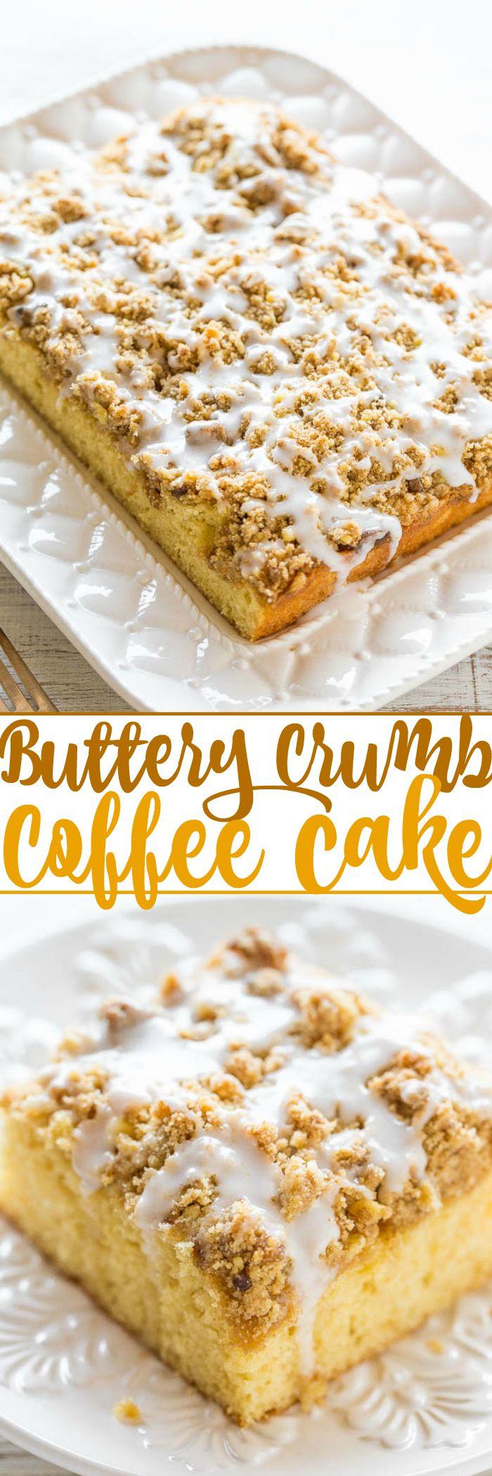 Buttery Coffee Crumb Cake Recipe Crumb coffee cakes