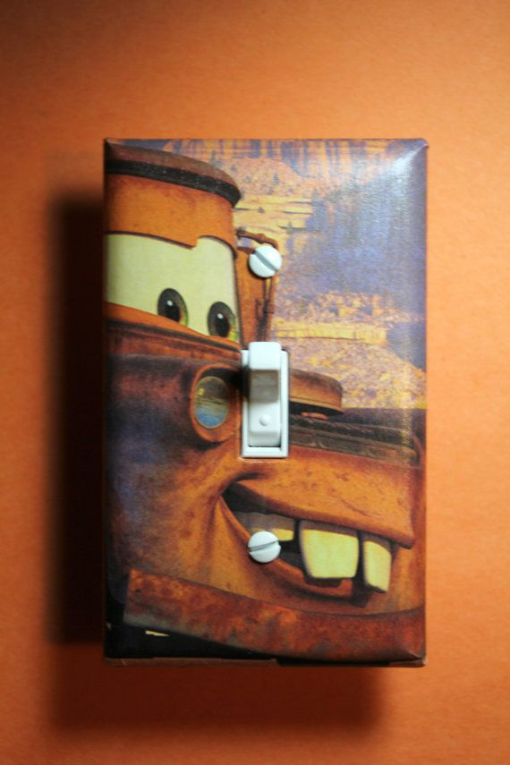 Cars Tow Mater Light Switch Plate Cover Boys By Comicrecycled With Images Light Switch Plate