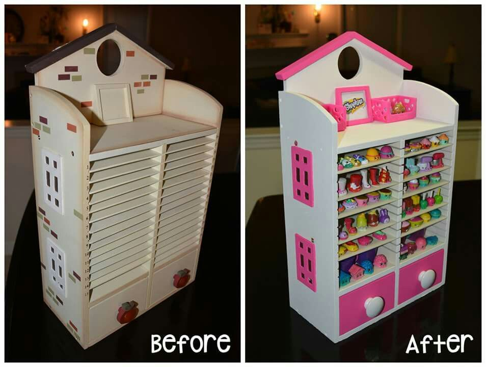 Shopkins display and storage house made from an old mail bill - bill organizer