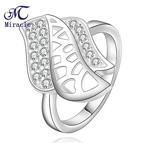 K-DESIGN R478 925 Silver plated new design finger ring for lady 7.0 *** Click image for more details.