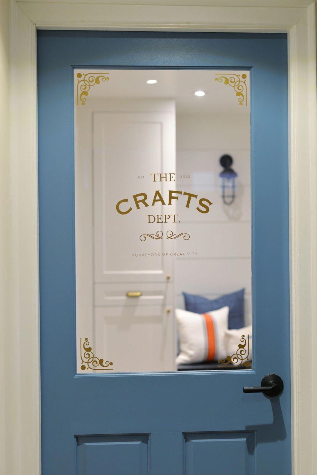 Craft room door door decal projectcraftsdept craftroom