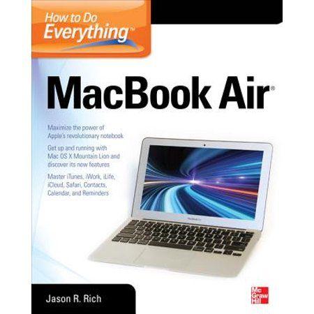 How to Do Everything: How to Do Everything Macbook Air (Paperback) - Walmart.com