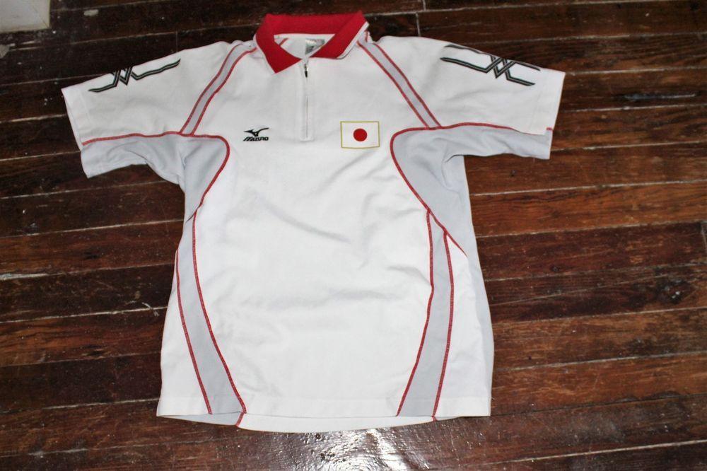 Mizuno Table Tennis Ping Pong National Team Japan Jersey Shirt Size L Mizuno Jersey Shirt Shirt Size Clothes Design