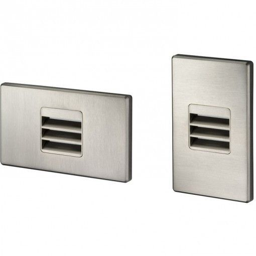Juno Indoor Mini Dimmable LED Louver Step Light 3000K Satin Nickel Finish