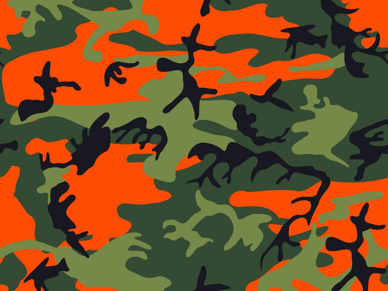 orange camouflage wallpaper  Google Search  Home Dcor