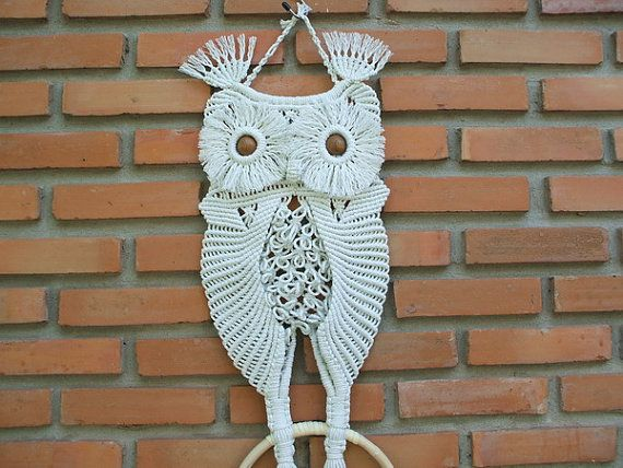 Macrame Owl 'Mother and her baby' by handiworkclub on Etsy