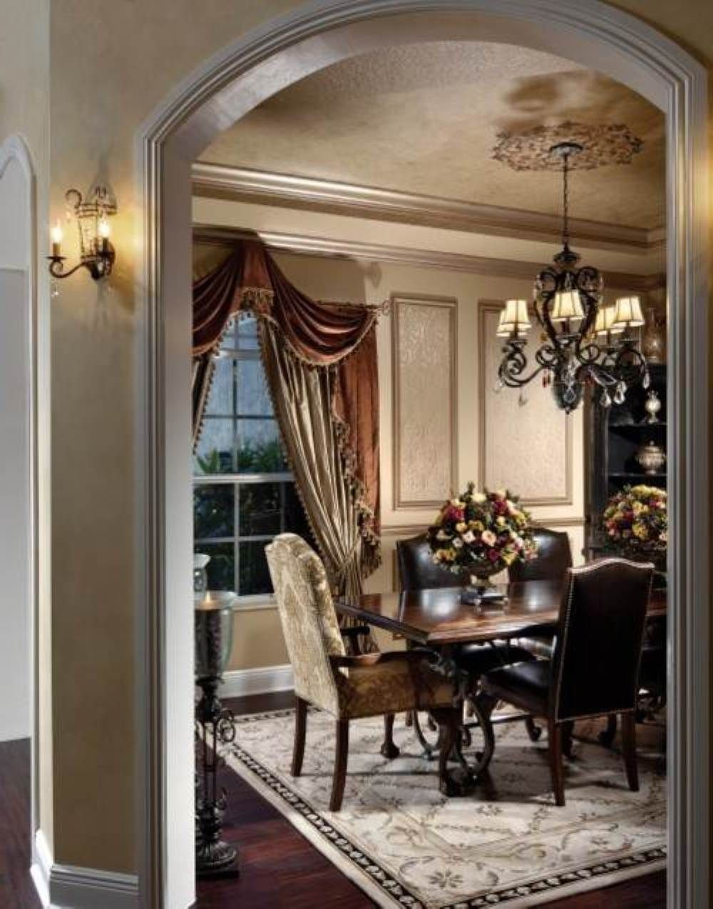 The Dining Room In A Traditional Home Is Generally A Separate Room Often With Some Built In Corner Cabinets For C Traditional Home Decorating Home Decor Decor