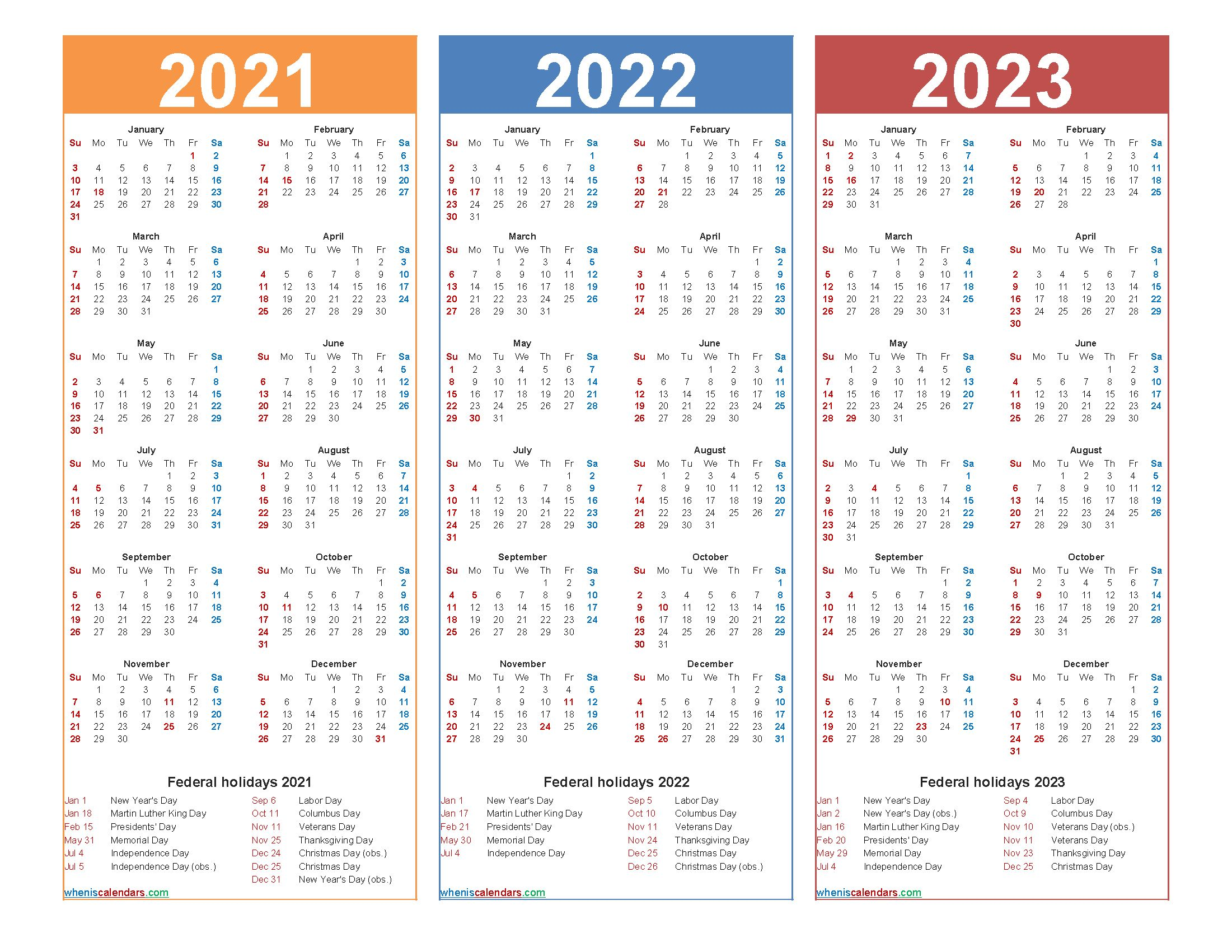 Calendar Template 2022 2023.Printable 2021 2022 And 2023 Calendar With Holidays With Regard To Three Year Printable Calen In 2021 Calendar Printables Marketing Calendar Template Calendar Template